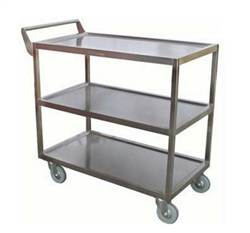 CCK Bus Cart, Heavy Duty 3 Tier S/S 350 lb Capacity - C-4222 by California Cooking.