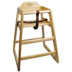 High Chair, Natural Finish - Assembled, CHH-101A by California Cooking.