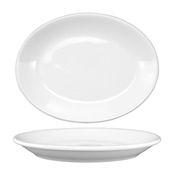 "California Cooking Platter, Oval, 11-3/4"", European White - DO-13"