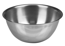 Mixing Bowl, Stainless Steel, Standard Wt. 4 qt, MB-400 by California Cooking.