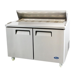 "Refrigerator, Mega Top Sandwich Prep Table 60"" 16 Pans 2 Door  - MSF8303GR by California Cooking"