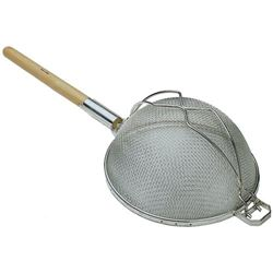 "Strainer, Double Mesh Reinforced, 10 1/4"", SHD-10-SS by California Cooking."