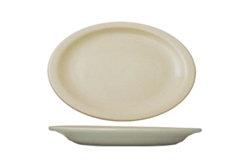 "California Cooking Platter, 13-1/4"", Narrow Rim, American White- VA-14"