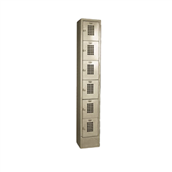 "Locker, 6 Tier, 1 Column, 12"" x 12"" x 78"" - Beige, WL-66 by California Cooking."