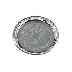 "Round, Decorative Gadroon Border Tray, 14"", 608907 by Carlisle."
