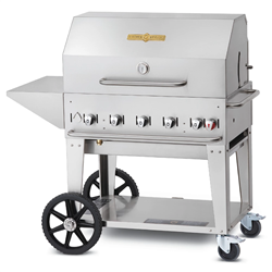 "Outdoor BBQ Grill, Radiant Portable 36""  - CV-MCB-36PKG-LP by Crown Verity."