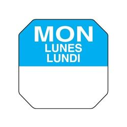 "Trilingual 1"" Daydots Label Roll - Monday, 7701-MON by Daydots."