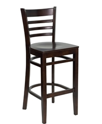 Flash Furniture Barstool, Ladder Back, Walnut - XUDGW0005BARLADWALGG