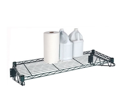 "Wall Shelf, 14"" x 36"" Epoxy Coated Shelf Kit Complete, FWS1436G by Focus."