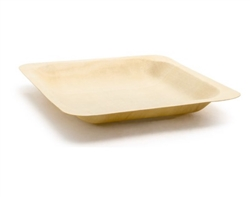 "Plate, Wooden 5 1/2"" Square 200 Per Case - DAP064NAW28 by Front Of The House."