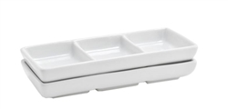 FOH 3-Compartment Sampler White - DSD017WHP23