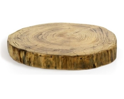 "Platter, Wood 12"" Dia x 1 1/2"" 2 Per Case - SPT049NAW20 by Front Of The House."