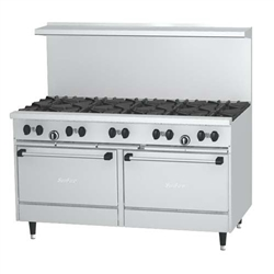 "Range, 60"" ""Sunfire Series"" 10 Burners, 2 Large Standard Ovens - Nat. Gas, X60-10RR-NAT by U.S. Range."