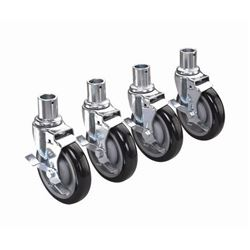 "Shelving Casters, 5"" Wheels With Brakes, 28-151S by Krowne."