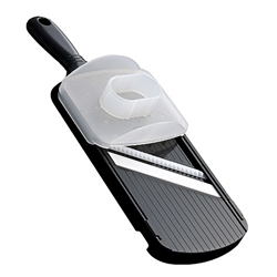 Mandolin, Double-Edged Slicer With Guard, Ceramic - Black, CSN-152-NBK by Kyocera Tycom.