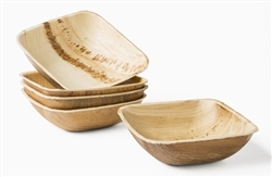"4.5"" Fallen Palm Square Bowls, 100 ct - LW4B by Leafware"