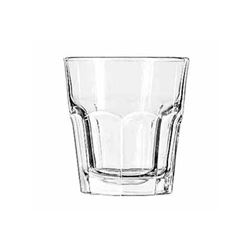 "Glass, Rocks  ""Gibralter® Pattern"" 9 oz, 15242 by LIbbey."