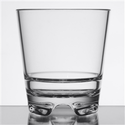 Infinium 12 oz Tritan Plastic Double Old Fashioned Glass, Stackable - 92404