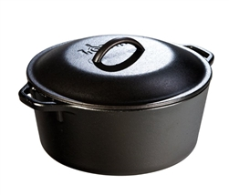 "Lodge Dutch Oven 5Qt w/Cover 10.25"" - L8DOL3"
