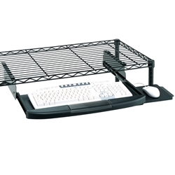 Keyboard Tray For Wire Shelving - CKS1522BL by Metro.