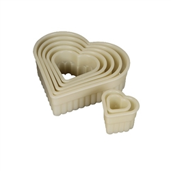 Dough Cutter Set, Fluted Heart Shapes 7 Pc- M35506 by Mercer Tool.