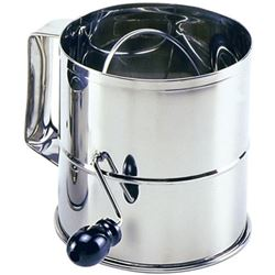 Flour Sifter, Stainless Steel, 8 Cup, 146 by Norpro.