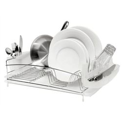 Dish Rack, Home Style 4pc Stainless Steel, 7227 by Oggi Corporation.