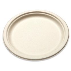 "Paper Plate, 9"" Natural Brown Fiber - Case of 500, BGW-09 by Papercraft."