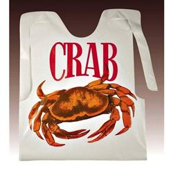 Crab Bibs, Case of 500, PAPCRABBIB by Papercraft.