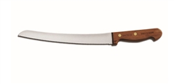 "Dexter-Russell Scallop 10"" Curve Bread Knife Rosewood Handle - S47G10-PCP"