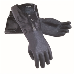 "Gloves, Dishwashing HD XL 17"" Black 1 pr- 1217EL by San Jamar."