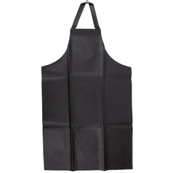 Apron, Bib Leather-Look Vinyl Brown - 604VBA-BR by San Jamar.