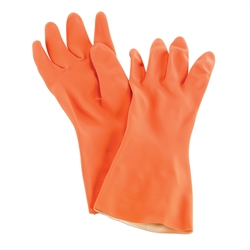 "Gloves, Dishwashing HD Medium 13"" Orange 1pr- 720-M by San Jamar."