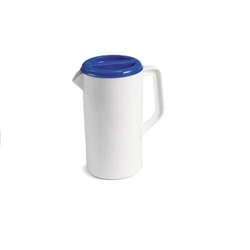 Pitcher, Plastic 2 1/2 Qt. With 3 Way Blue Lid, 144W by TableCraft.