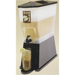 Slimline Beverage Dispenser, Black 3 gal, H353DP by TableCraft.