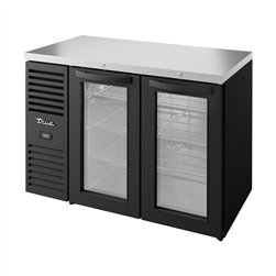Refrigerated Back Bar Cooler,  2 Glass Doors - TBR48-RISZ1-L-B-GG-1 by True.
