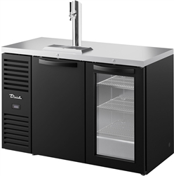 Refrigerator, Draft Bar Cooler,  2 Door 1 Tower Black - TDR52-RISZ1-L-B-SG-1 by True.