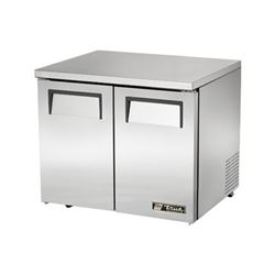 "Refrigerator, Undercounter 36"" Solid Door - 2 Section, Low Profile. TUC-36-LP by True."