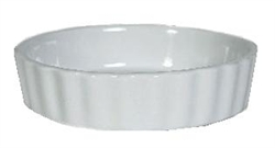 Baking Dish, Creme Brulee 8oz, Fluted - Porcelain White, BPK-0805 by Tuxton.