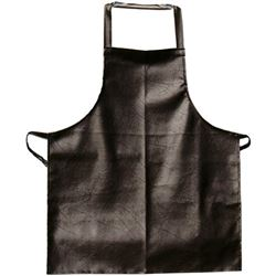 "Bib Apron, Brown, No Pockets, 26"" W X 41""L, APV2641HD by Update International."