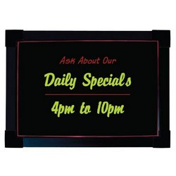 "Menu Board, 20"" x 28"" Write-On Wall Or Easel Mount, LEDMB-2028 by Update International."