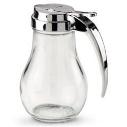 Syrup Pourer, 14oz - Glass Jar, Chrome Top, 214 by Vollrath.