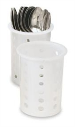 Flatware Cylinder, Plastic - White, 52643 by Vollrath.