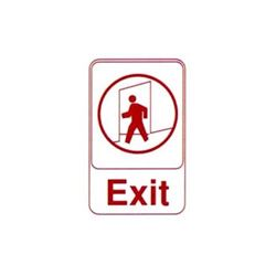 "Sign, ""Exit"" 6"" x 9"" Red On White, 5609 by Vollrath."