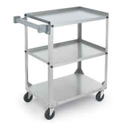 Utility/Bussing Cart, Medium Duty 3 Stainless Shelves 300 lb Capacity, 97120 by Vollrath.