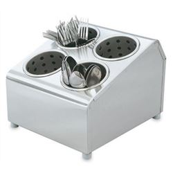 Flatware Holder, 4 Compartment - Stainless Steel, 97240 by Vollrath.