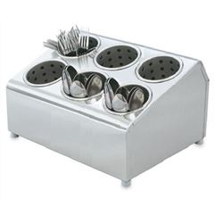Flatware Holder, 6 Compartment - Stainless Steel, 97241 by Vollrath.