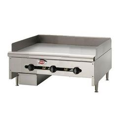 "Griddle, 36"" Manual Controls - Nat. Gas, HDG-3630G-NAT by Wells."