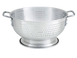 Colander, 11 qt Aluminum With Base And Handles - ALO-11BH by Winco.