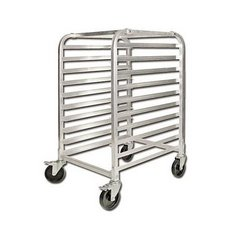 Bun Pan Rack, Half Size Fixed Spacing, 10 Pan - KD Aluminum, ALRK-10BK by Winco .